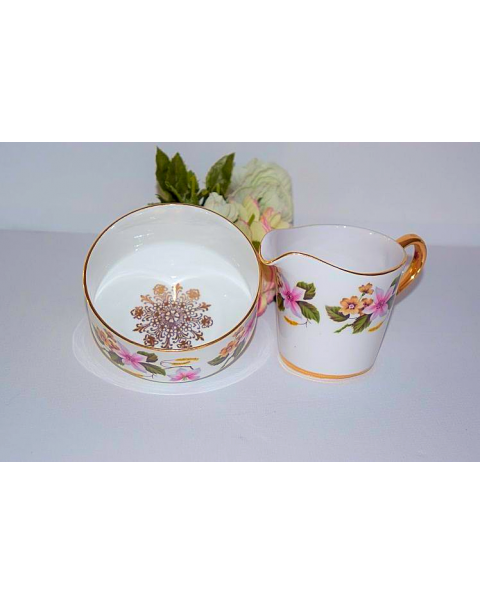 ROYAL IMPERIAL MILK JUG AND SUGAR BOWL